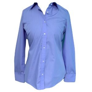 Ladies IZOD Non Iron Pretty Light Blue Crisp Collar Button Up - Cufflinks